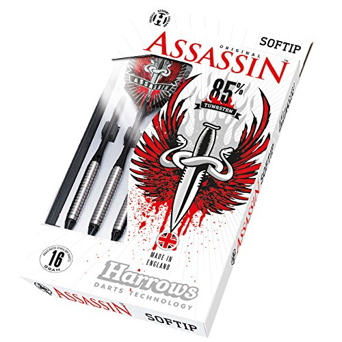 HARROWS Assassin 80% Tungsten Dartpfeile (18g) (Harrows Assassin Darts)