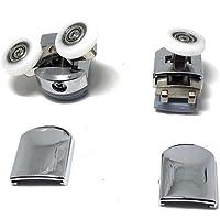 Lot de 8 roulettes pour porte de douche en alliage de zinc, CY-908AB-(20-27)MM