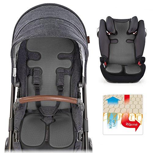 Atmungsaktive Sommer Sitzeinlage, Sitzauflage für Kinderwagen, Buggy, Kindersitz und Babyschale - Kühlt und schützt den Sitzbezug vor Flecken