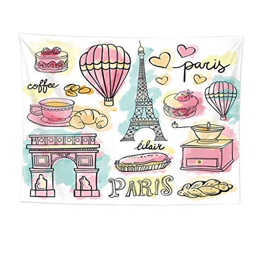 Webla-Paris City Dekoration Kollektion Eiffelturm Brücke Hauptstadt Schlafzimmer Wohnzimmer Schlafsaal Wandbehang Tapisserie
