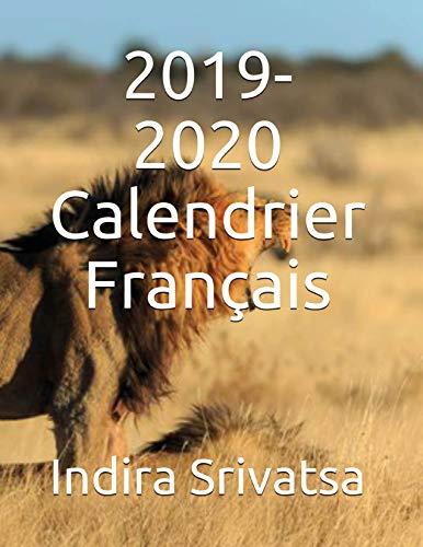Couverture du livre 2019-2020 Calendrier Français