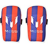 Wintex Plastic Messi Football Shin Guards (Blue and Red)
