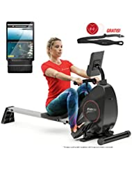Sportstech Rowing Machine By The Premium Manufacturer Incl. Smartphone APP, Pulse Belt Folding Rowing Machine RSX400 For Your Home With 8-Fold Adjustable Magnetoresistance And Ball Bearing