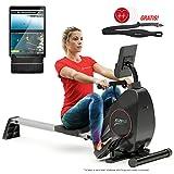 Sportstech Rowing Machine By The Premium Manufacturer Incl. Smartphone APP, Pulse Belt Folding
