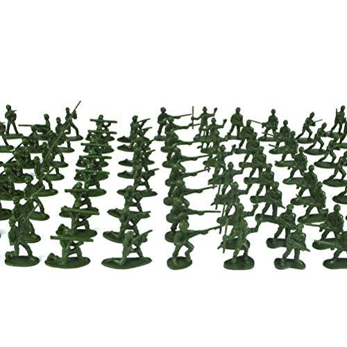 YeahiBaby 200 stücke Kunststoff Armee Männer Spielzeug Soldat Spielset Action-Figuren Battle Group Kinder Kleine Spielzeug (Zufällige Farbe und Typ) (Spielzeug Kunststoff Armee Männer)