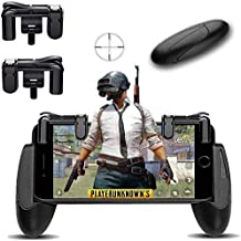 Honey Money Mobile Game Controller [Upgrade Version] Mobile Gaming Trigger For PUBG/Fortnite/Rules Of Survival Gaming Grip And Gaming Joysticks For 4.5-6.5inch Android IOS Phone (1Pair+1Gamepad)