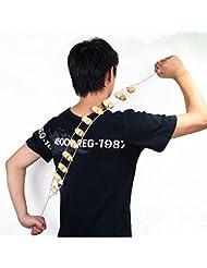 mark8shop Fitness rodillo de madera (cuerpo cuello Pierna Trasera de la cintura para Masajeador