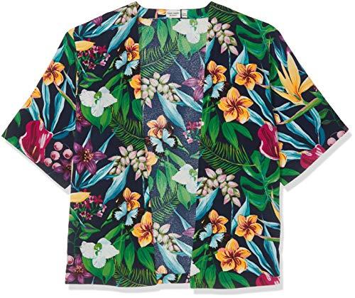 NAME IT Mädchen NKFVINAYA SS KIMONO H Bluse, Mehrfarbig (Dark Sapphire), 122 (Herstellergröße: 122-128) -