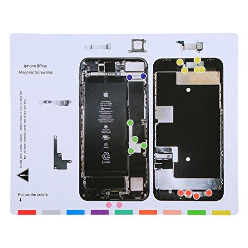 für iPhone 8 Plus magnetische Schrauben Mat, Größe: 25cm x - 4 Schraube Iphone Mat
