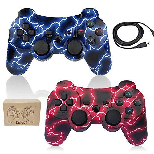 2 Pack PS3 Controller Wireless Double Shock Gamepad für Playstation 3 6-Achsen Joystick Bluetooth