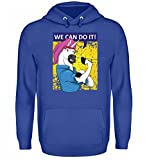 We Can Do It T-Shirt - Einhorn Unicorn Rosie The Riveter Vintage Retro WW2 Geschenk Frau - Unisex Kapuzenpullover Hoodie