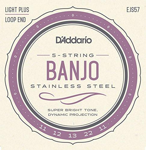 D'Addario EJS57 Banjo 5-Saiter Satz Loop End/Custom Medium Loop End-e-saite