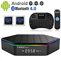 EASYTONE T95Z Plus Google TV BOX Android 7.1 Amlogic Octa Core 2GB DDR3 16GB EMMC Android TV Box Support 2.4G/5G Dual Band WIFI 1000M LAN 4K 3D With Wireless Mini Keyboard
