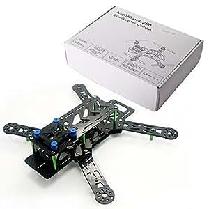 AGM nighthawk 250 quadcopter combo mT2204 carbone avec moteur, 12A-eSC-prop & cC3D green