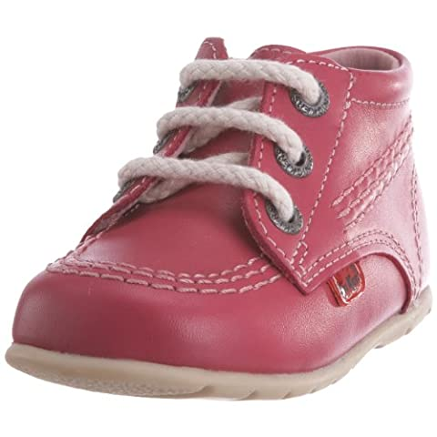 Kickers Kick Hi, Unisex - Kinder Babyschuhe , Rosa - rose - Größe: 18 EU (2 Kinder UK) (Baby-mädchen Eyelet)