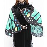 Dorical Hot !!! Clearance Schmetterlingsflügel-Schal mit einem Halsring socken Weiche Stoff Schmetterlingsflügel Schal Fee Damen Nymph Pixie Kostüm Zubehör