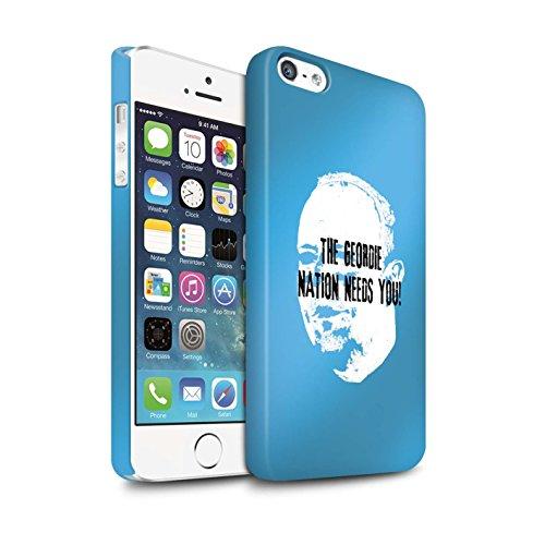 Officiel Newcastle United FC Coque / Clipser Matte Etui pour Apple iPhone SE / Pack 8pcs Design / NUFC Rafa Benítez Collection Nation Geordie