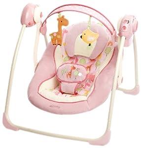 Bright Starts Comfort & Harmony Girafaloo 60121 Portable Baby Bouncer Swing