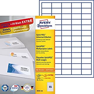 AVERY Zweckform QuickPEEL Multi-Use Labels White