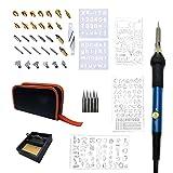 SUPVOX Lötkolben Set Eletronische Lötkolben Kit Lötkolbenhalter Lötkolben Stift mit Lötkolbengriff Schablonen EU Stecker 40 Stück