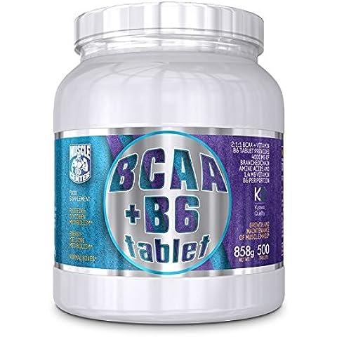 BCAA + B6 - Muscle Center - Aminoacidi Ramificati Kyowa 500 cpr +porta pillole gratis