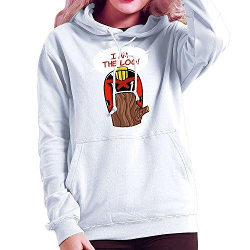 Lumberjack Log (Judge Dread I Am The Log Women's Hooded Sweatshirt)