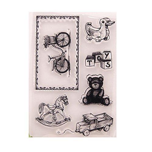 Ranuw Transparent Stempel (Tiere) DIY Handwerk Silikon Clear Stamps Für Album Foto Sammelalbum Präge Scrapbooking