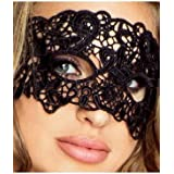 Provocative PR0039 One Size Black Sexy Embroidered Lace Mask