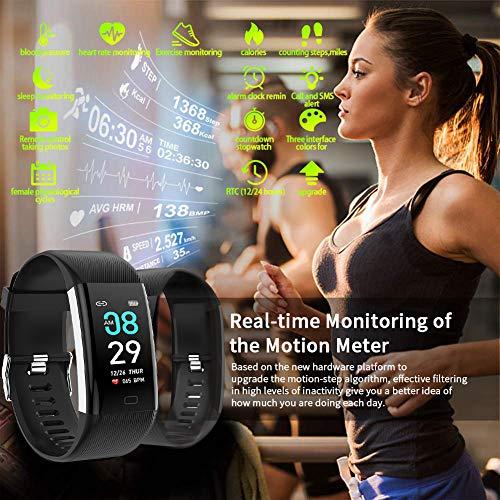 Imagen de ltpag pulsera actividad inteligente, podómetro pulsera deportiva monitores de actividad niño pulsera actividad hombre reloj contador de pasos y calorias mujer pulsómetro tensiómetro para ios y android alternativa