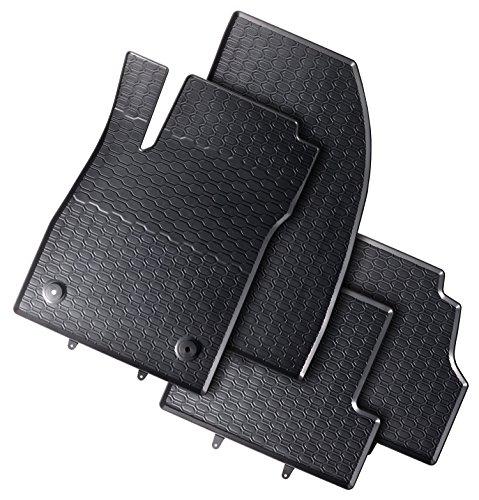 Automatten-Experts 872/4C - Passgenaue Auto-Gummimatten mit Befestigungen für die Fahrerseite 4-teilig