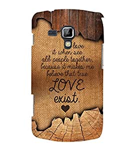 Fuson Designer Back Case Cover for Samsung Galaxy S Duos S7562 ( Love Quotes Inspiration Emotion Care Fun Funny )
