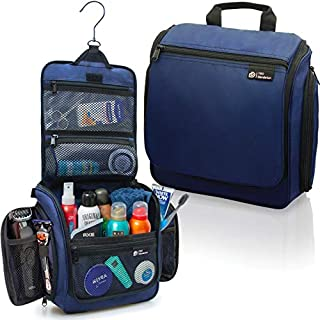 D&D Hanging Toiletry Bag for Men and Women | Perfect Travel Kit for Makeup, Toiletries and Cosmetics | Free eBook