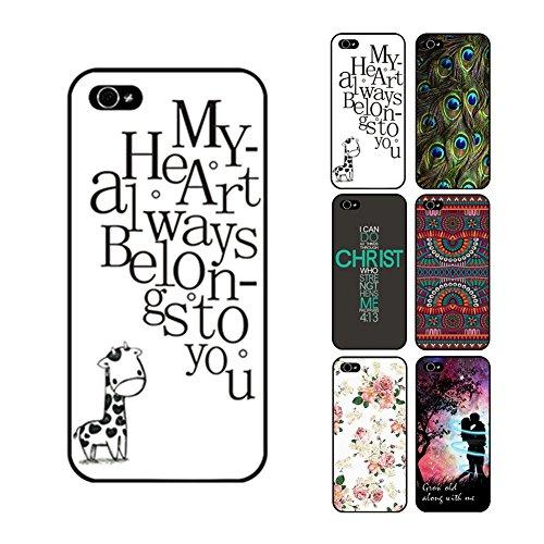 D9Q Vintage Kunst gemalt Muster zitieren schwer Fall zurück Cover Skin Protector case hülle für iPhone 5C mit Tracking Nummer & ein kostenloses Geschenk geliefert !!Farbe1