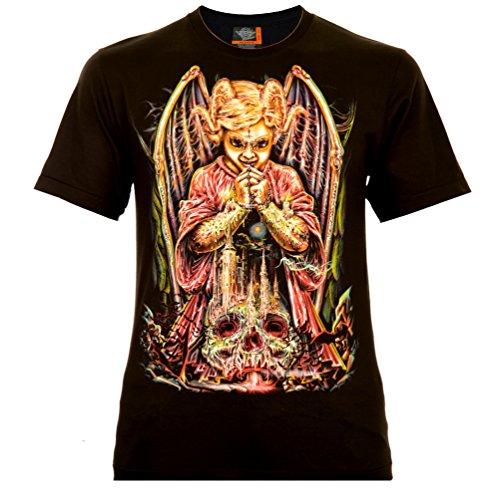 Devils Angel Herren T-Shirt Schwarz Gr. S