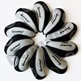 Taylormade burner Golf Iron head Covers 10pcs/set black & grey MT/T05