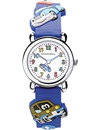 Cannibal Kid's Quartz Watch with White Dial Analogue Display and Blue Resin Strap CK199-05
