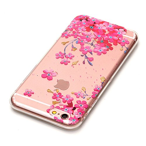 HLZDH Transparente Case pour iPhone 6/6s TPU Silicone Transparente Ultra Mince Ultra Lége [Anti Scratch][Anti dérapante][AntiChoc] Gel transparent Housse Pare-chocs +Touchez le stylo image-1