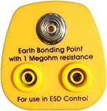 Anti-Static ESD Grounding Plug UK - 2 x 4mm Banana Sockets and 1 x 10mm Stud (Premium Quality)