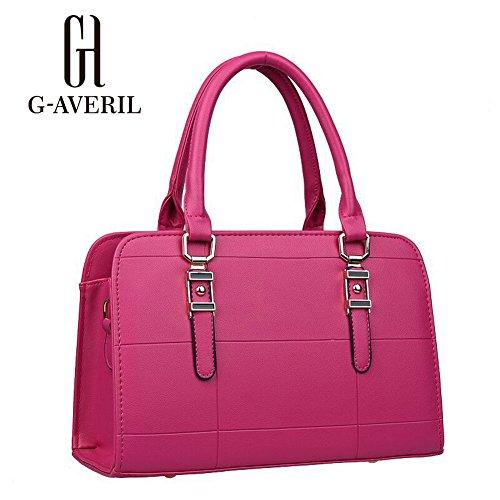 (G-AVERIL) Borse a Spalla e tracolla eleganza elegante Moda Donna rosa rossa