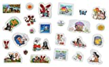 Unbekannt 25 tlg. Set 3-D Soft Sticker / Aufkleber - der Kleine Maulwurf - Wasserfest - Selbstklebend Pop-up Aufkleber Wandsticker