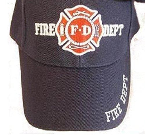 NAVY BLUE FD Fire Department Hat Dept Firemen FDNY Ball Baseball Cap by Sport Cap (Ball Cap Navy)