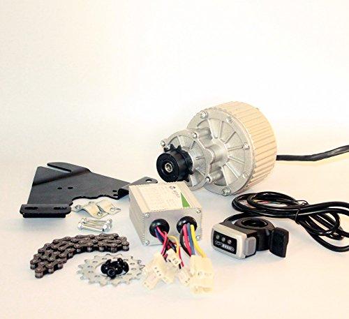 24V36V450Kit 24V36V450W bici elettrica Lato sinistro Motor Drive Kit Montagna di conversione della bicicletta corredo su misura del motore elettrico per la bici sospeso Wuxing thumb throttle (36V450W)