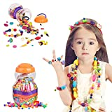 Lauva Pop Beads, Education Learning Toy Jewelry Making Kits Snap Beads Set for Toddlers Kids Girls, BPA Free Necklace Bracelet Rings Creative DIY Art Crafts Christmas Birthday Gifts