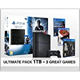 Playstation 4 PS4 1Tb Uncharted 4 - Consola PS4 de 1 TB + 3 Juegos - Uncharted 4 + The Last of us + God of war 3 - Ultimate Player Edition