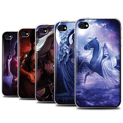 Officiel Elena Dudina Coque / Etui pour Apple iPhone 4/4S / Pack 9pcs Design / Super Héroïne Collection Pack 9pcs