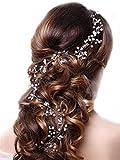 Yean Diademas para novia, accesorios para el pelo, diadema de boda para novia y dama de honor (color plata)