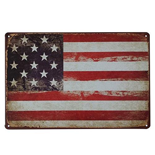 VORCOOL Amerikanische Flagge Vintage Dekorative Zeichen Zinn Metall Eisen Auto Zeichen Malerei Für Wand Home Bar Coffee Shop (Stil 70)