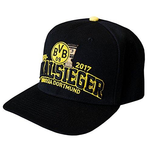 Borussia Dortmund Kappe / Basecap / Mütze / Cap / Schildmütze DFB-Pokalsieger 2017 BVB 09 - plus gratis Aufkleber forever Dortmund