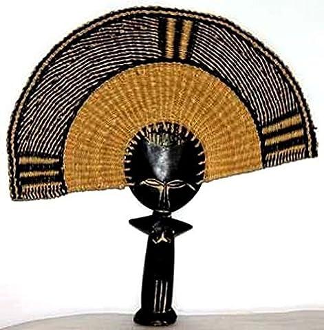 AFRIQUE ART DECORATION -Eventail poupée ashanti EVPOAS3