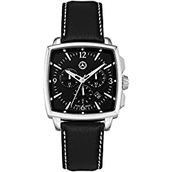 Genuine Mercedes Benz Chronograph Leather Watch, Carré - B66043322